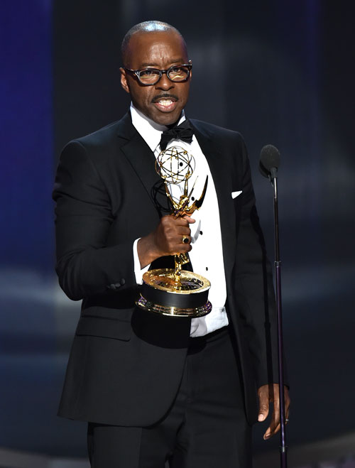 "<div class='meta'><div class='origin-logo' data-origin='AP'></div><span class='caption-text' data-credit='Photo by Vince Bucci/Invision for the Television Academy/AP Images'>Courtney B. Vance accepts the award for outstanding lead actor in a limited series or a movie for ""The People v. O.J. Simpson: American Crime Story.&#34;</span></div>"