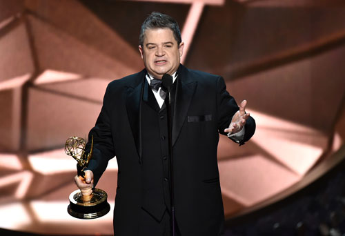 "<div class='meta'><div class='origin-logo' data-origin='AP'></div><span class='caption-text' data-credit='Photo by Vince Bucci/Invision for the Television Academy/AP Images'>Patton Oswalt accepts the award for outstanding writing for a variety series for ""Patton Oswalt: Talking for Clapping"" at the 68th Primetime Emmy Awards on Sunday, Sept. 18, 2016.</span></div>"
