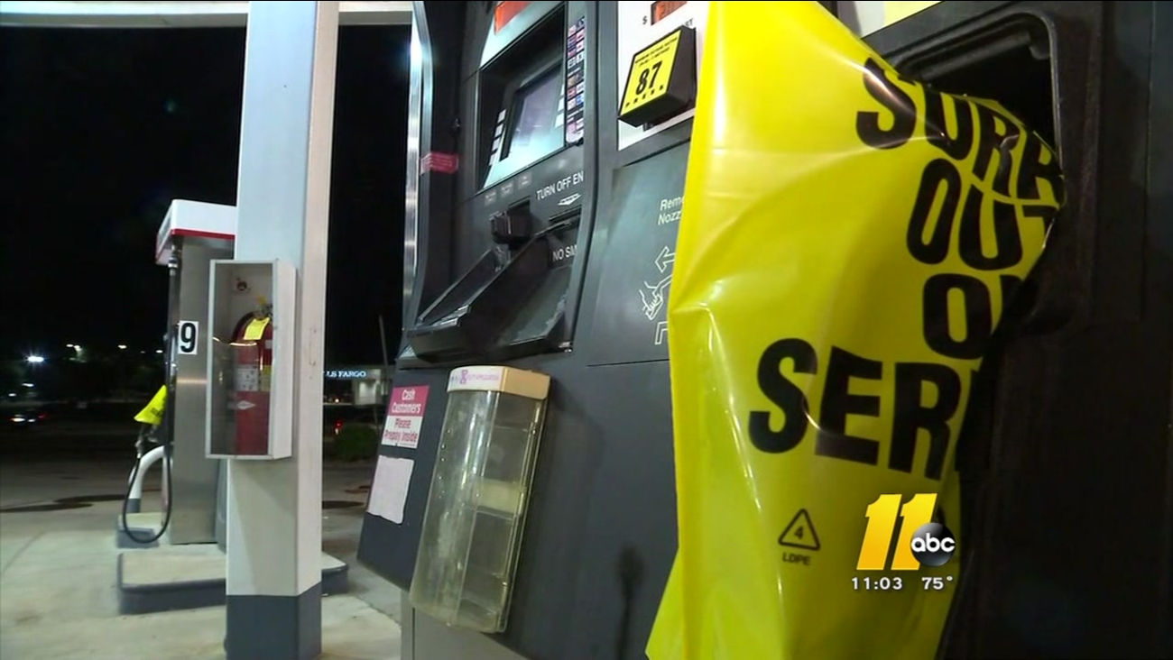 Many pumps out of gas in NC after pipeline leak