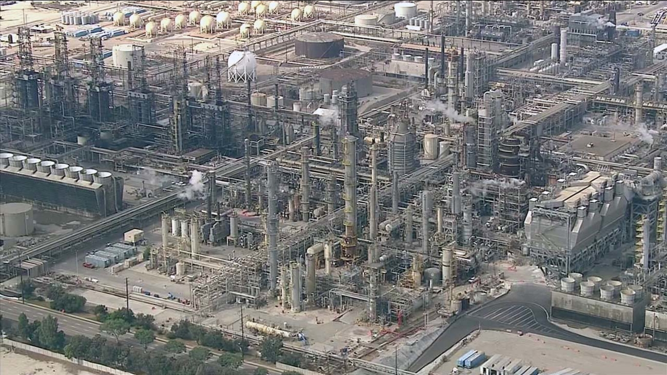 An undated file photo of the Exxon Mobil refinery in Torrance.