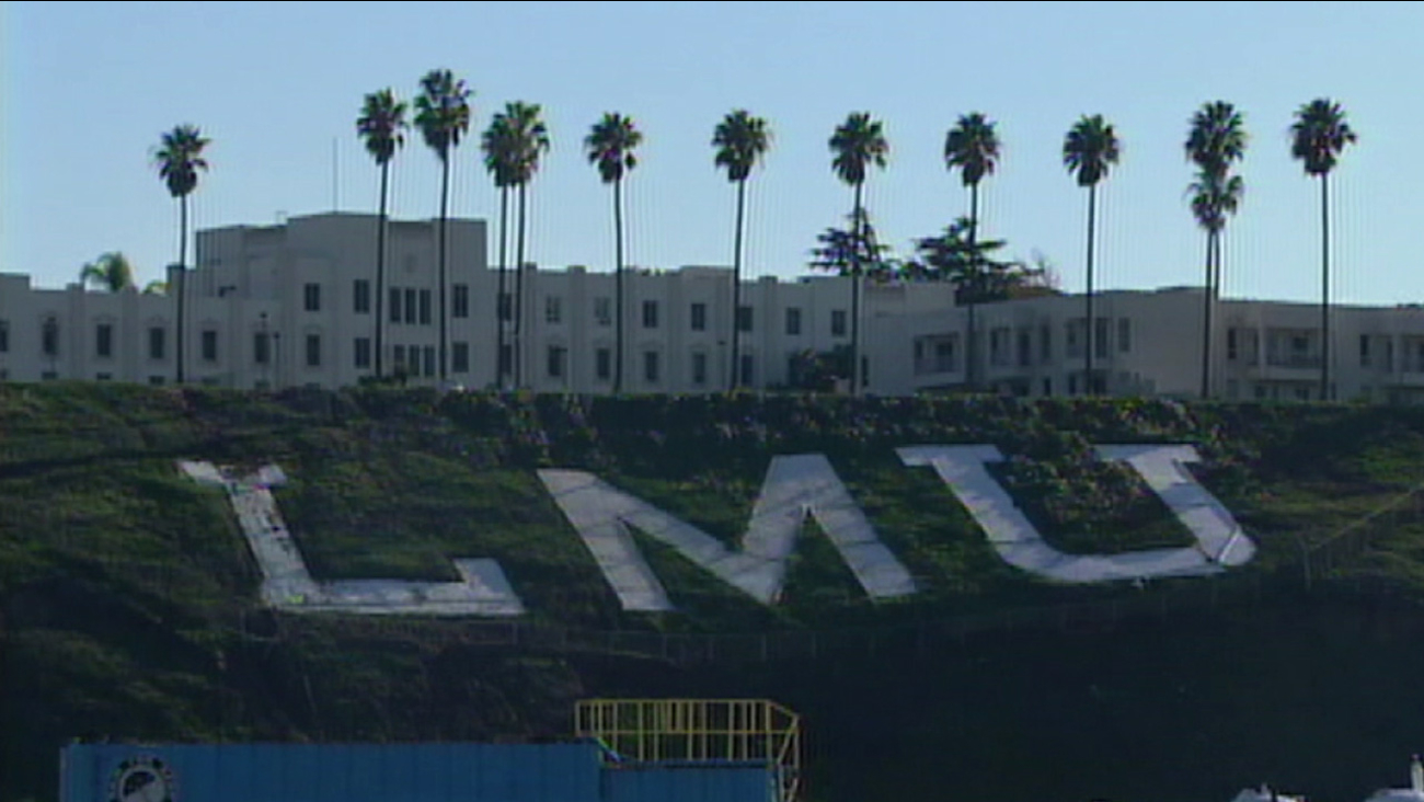 The campus of Loyola Marymount University in Los Angeles is seen in an undated file photo.