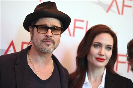 "<div class=""meta image-caption""><div class=""origin-logo origin-image none""><span>none</span></div><span class=""caption-text"">Brad Pitt, left, and Angelina Jolie arrive at the AFI Awards at The Four Seasons Hotel on Friday, Jan. 9, 2015 in Los Angeles. (Photo by Jordan Strauss/Invision/AP) (Jordan Strauss/Invision/AP)</span></div>"