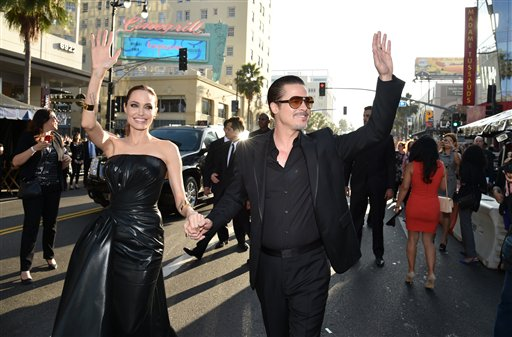 "<div class=""meta image-caption""><div class=""origin-logo origin-image none""><span>none</span></div><span class=""caption-text"">Angelina Jolie and Brad Pitt arrive at the world premiere of ""Maleficent"" at the El Capitan Theatre on Wednesday, May 28, 2014, in Los Angeles. (Photo by John Shearer/Invision/AP) (John Shearer/Invision/AP)</span></div>"