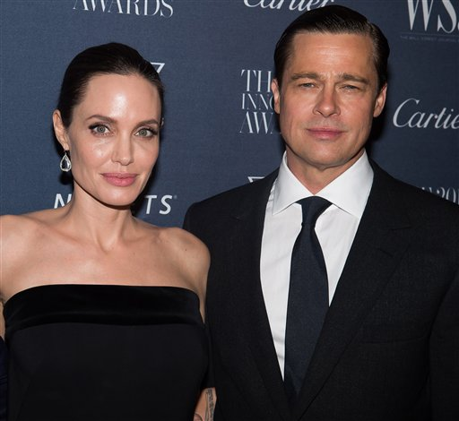 "<div class=""meta image-caption""><div class=""origin-logo origin-image none""><span>none</span></div><span class=""caption-text"">Angelina Jolie Pitt and Brad Pitt attend the WSJ Magazine Innovator Awards 2015 at The Museum of Modern Art on Nov. 4, 2015, in New York. (Photo by Charles Sykes/Invision/AP) (Charles Sykes/Invision/AP)</span></div>"