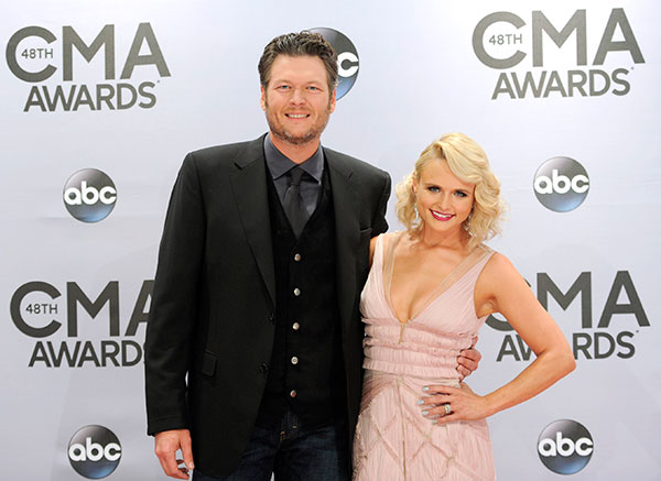 "<div class=""meta image-caption""><div class=""origin-logo origin-image none""><span>none</span></div><span class=""caption-text"">Blake Shelton and Miranda Lambert (Evan Agostini/Invision/AP)</span></div>"