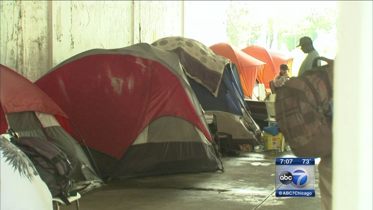 Tent city residents worried