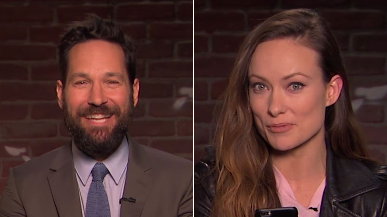 Paul Rudd and Olivia Wilde read mean tweets about themselves
