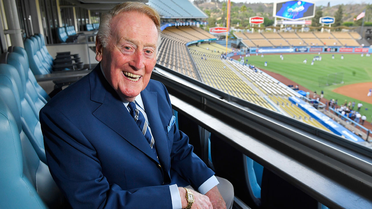 Vin Scully is retiring after 67 years as the Dodgers' broadcaster.