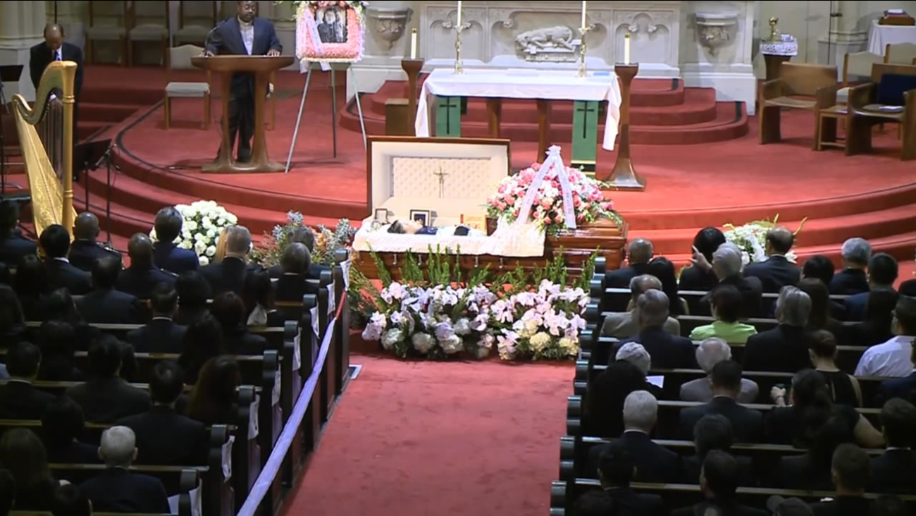 Funeral for one of San Francisco's most influential political activists Rose Pak on Saturday, September 24, 2016.