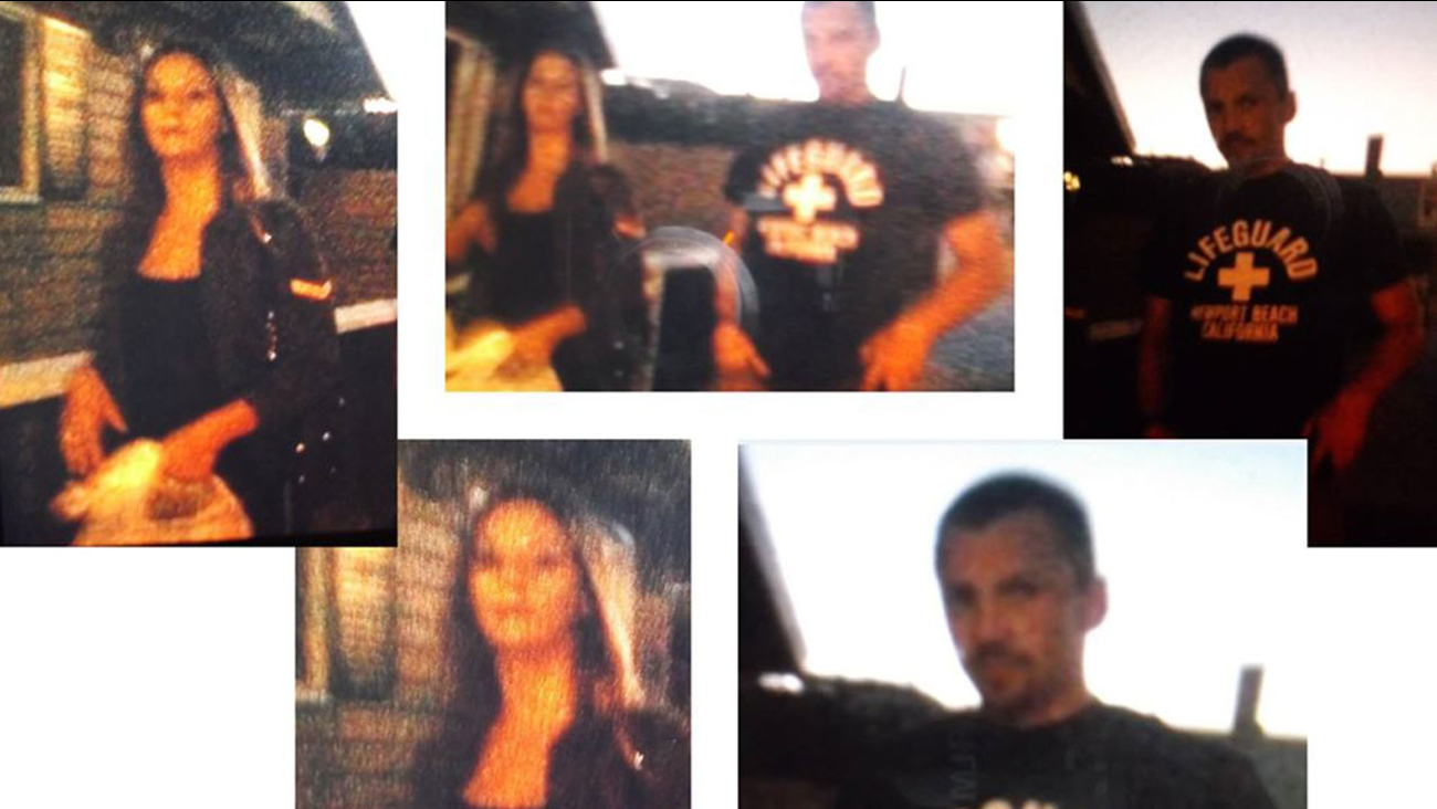 A man and woman suspected of battery against a teenager with autism in Newport Beach are shown in photos.