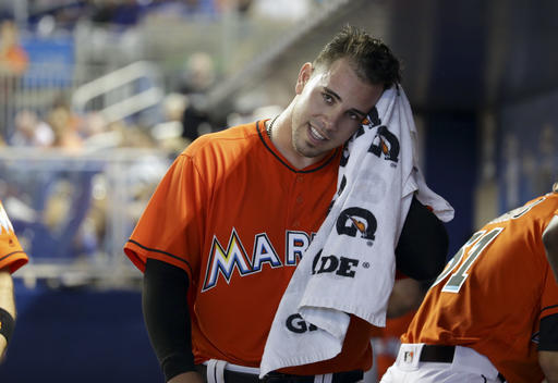 <div class='meta'><div class='origin-logo' data-origin='AP'></div><span class='caption-text' data-credit='AP'>Miami Marlins starting pitcher Jose Fernandez wipes his face with a towel after throwing during the fifth inning of a baseball game against the New York Mets, Sunday, June 5, 2016.</span></div>