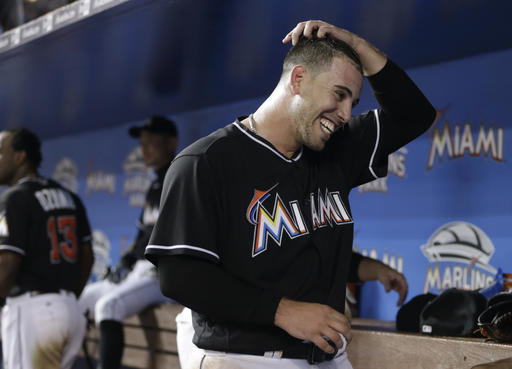 <div class='meta'><div class='origin-logo' data-origin='AP'></div><span class='caption-text' data-credit='AP'>Miami Marlins starting pitcher Jose Fernandez smiles in the dugout after pitching in the seventh inning of a baseball game against the New York Mets, Saturday, July 23, 2016.</span></div>