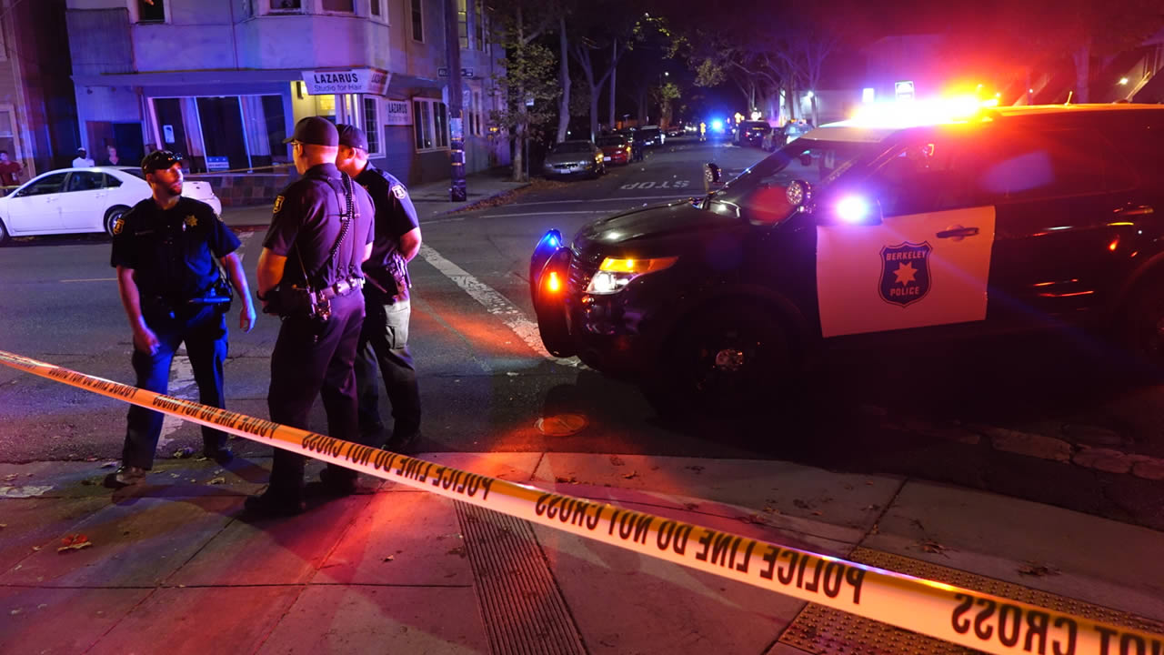 Police investigate a shooting on King Street and Alcatraz Avenue in Berkeley, Calif. on Sunday, September 25, 2016.