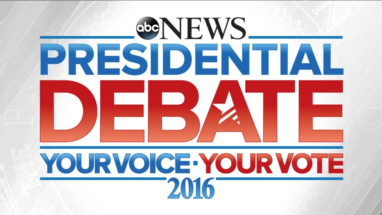 presidential debate live trump clinton abc news