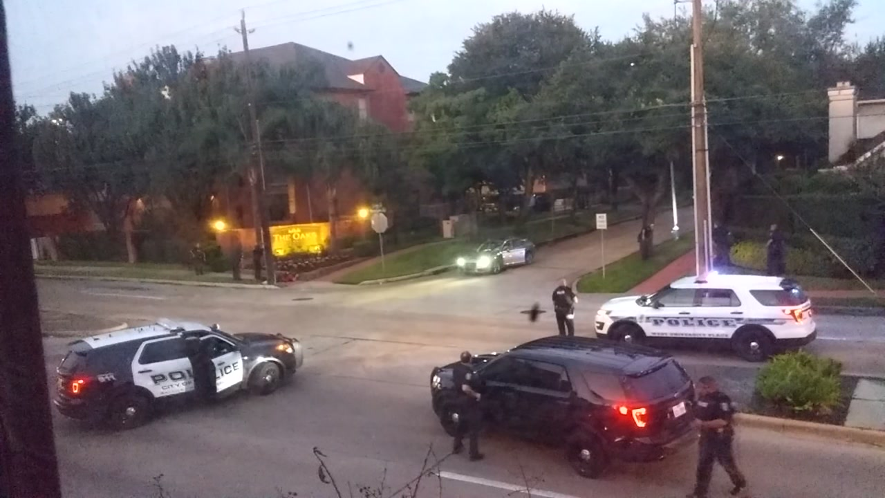 HPD officers take down shooting suspect