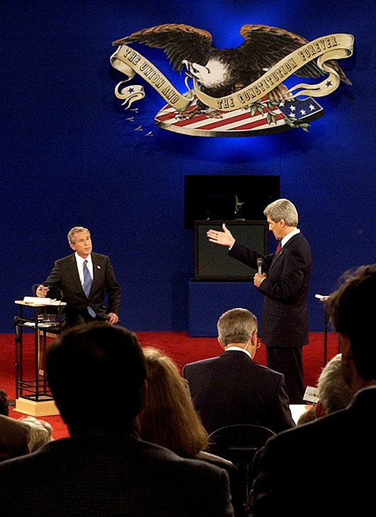 "<div class=""meta image-caption""><div class=""origin-logo origin-image ap""><span>AP</span></div><span class=""caption-text"">Democratic presidential candidate John Kerry answers a question during the presidential debate Friday, Oct. 8, 2004, at Washington University in St. Louis. (Charlie Riedel/AP)</span></div>"