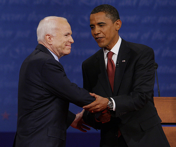 "<div class=""meta image-caption""><div class=""origin-logo origin-image ap""><span>AP</span></div><span class=""caption-text"">John McCain shakes hands with Barack Obama prior to the start of the presidential debate, Sept. 26, 2008, at the University of Mississippi (Charles Dharapak/AP)</span></div>"