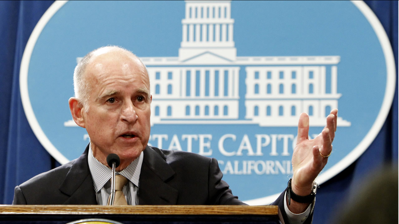 Gov. Jerry Brown discusses his revised state budget plan during a Capitol news conference in Sacramento, Calif., Monday, May 14, 2012.