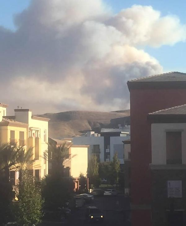 "<div class=""meta image-caption""><div class=""origin-logo origin-image none""><span>none</span></div><span class=""caption-text"">This view of the Loma Fire is from the Santa Teresa area in South San Jose on Tuesday, September 27, 2016. (Photo submitted to KGO-TV by @erikmorrongo/Twitter)</span></div>"