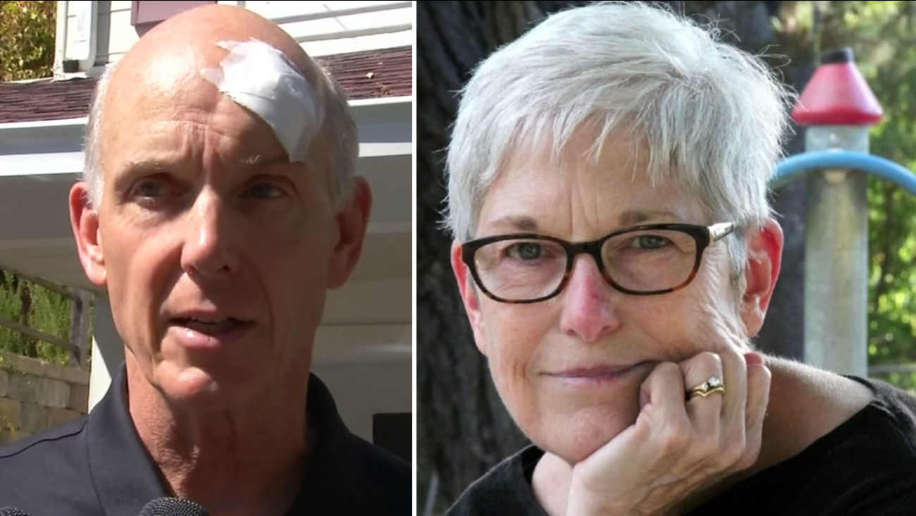 Police say Tom Spalding and his wife Carol were attacked outside their home in Orinda, Calif. on Monday, September 27, 2016 by two men wearing Halloween masks.
