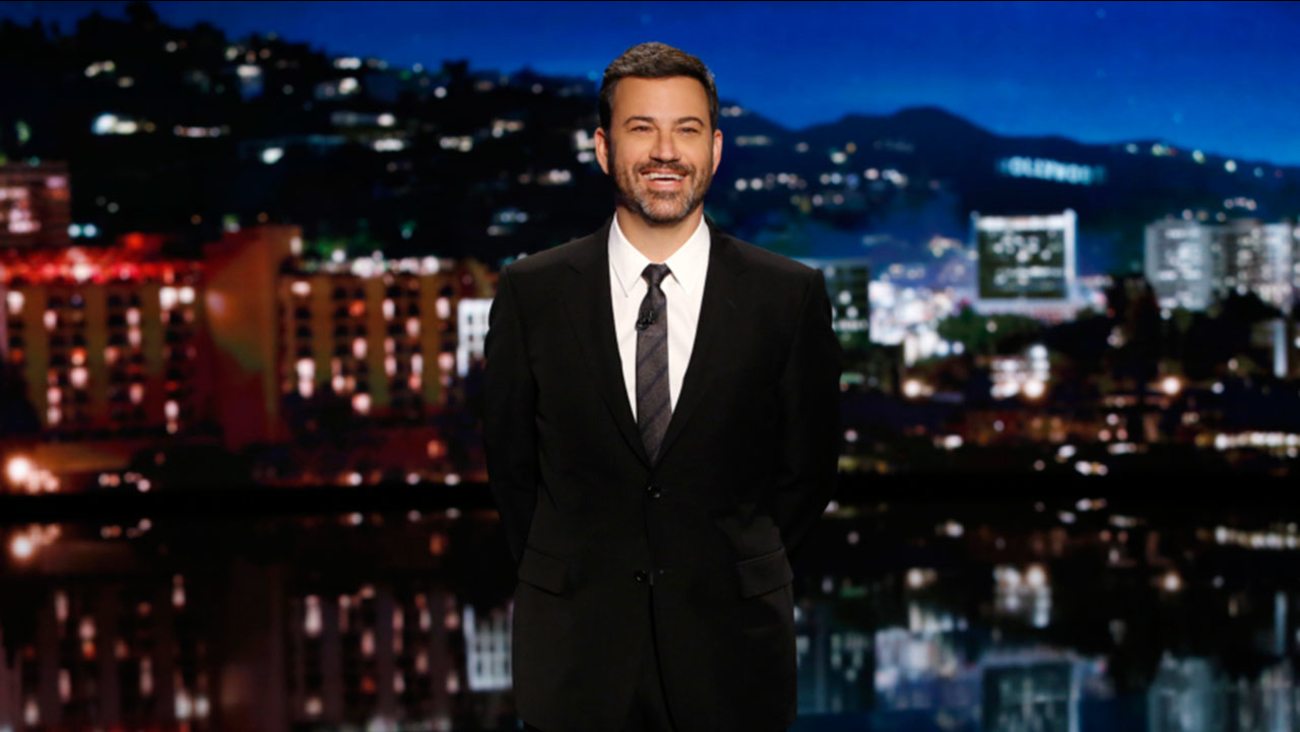 Jimmy Kimmel is pictured on the set of his show on Sept. 26, 2016.