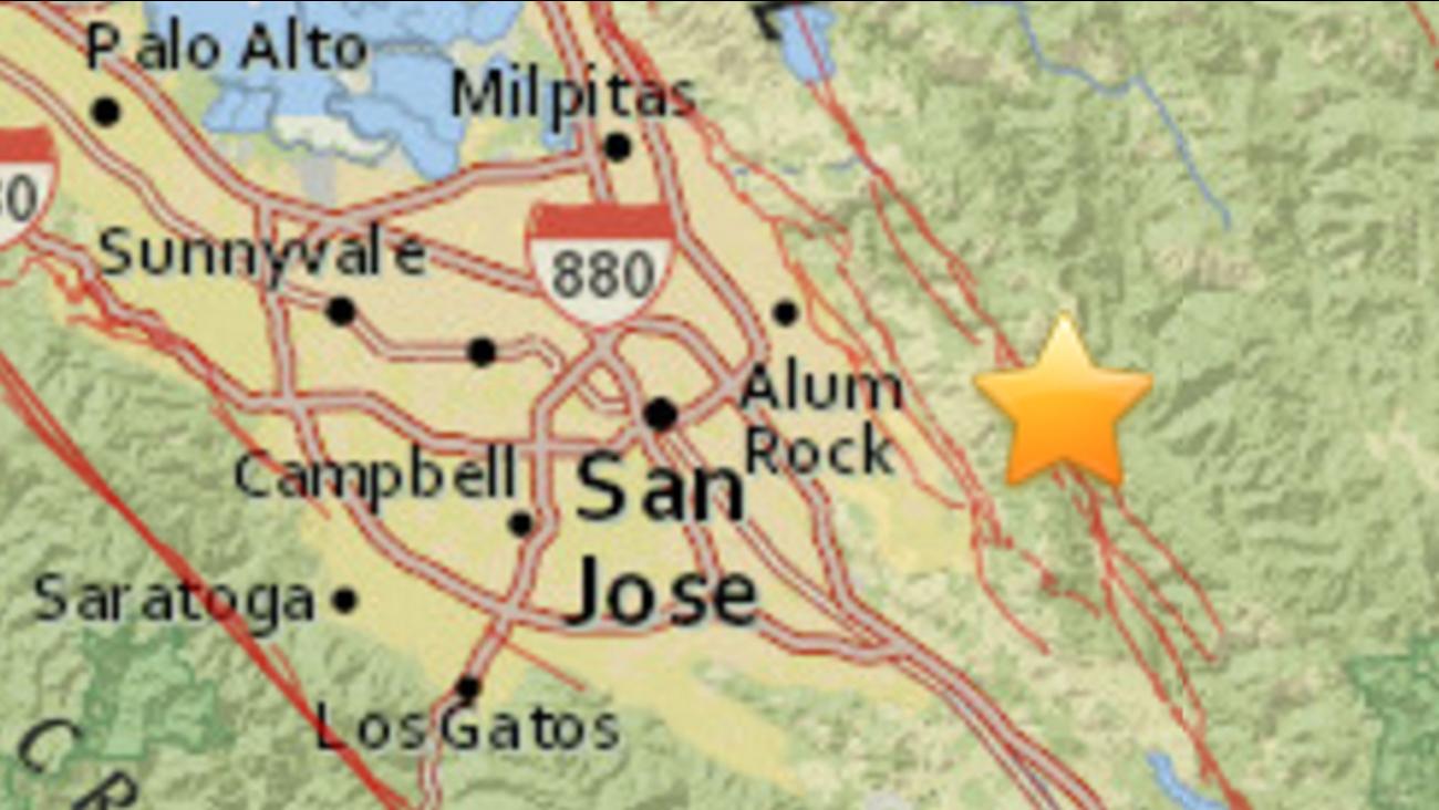 Earthquake in Alum Rock, California, Wednesday, September 28, 2016.