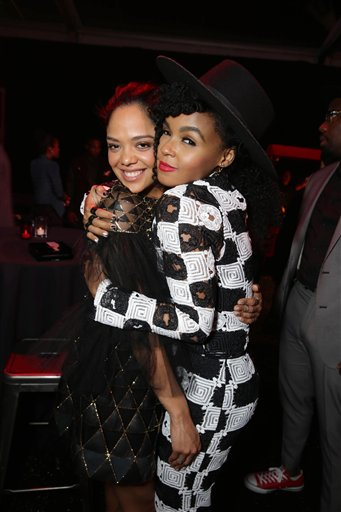 <div class='meta'><div class='origin-logo' data-origin='none'></div><span class='caption-text' data-credit='Eric Charbonneau/Invision/AP'>Exclusive - Tessa Thompson and Janelle Monae seen at Los Angeles World Premiere of New Line Cinema's and Metro-Goldwyn-Mayer Pictures' 'Creed'</span></div>