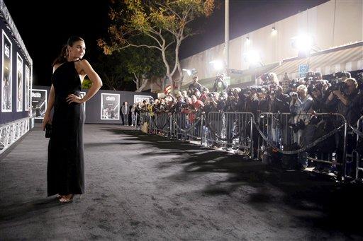 <div class='meta'><div class='origin-logo' data-origin='none'></div><span class='caption-text' data-credit='Eric Charbonneau/Invision/AP'>Emmanuelle Chriqui seen at Los Angeles World Premiere of New Line Cinema's and Metro-Goldwyn-Mayer Pictures' 'Creed'</span></div>