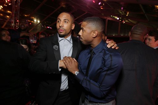 <div class='meta'><div class='origin-logo' data-origin='none'></div><span class='caption-text' data-credit='Eric Charbonneau/Invision/AP'>Exclusive - Andre Ward and Michael B. Jordan seen at Los Angeles World Premiere of New Line Cinema's and Metro-Goldwyn-Mayer Pictures' 'Creed'</span></div>