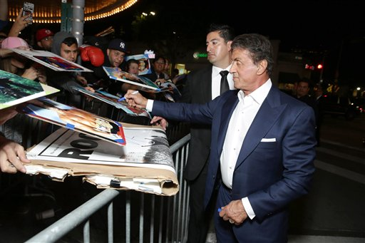 <div class='meta'><div class='origin-logo' data-origin='none'></div><span class='caption-text' data-credit='Eric Charbonneau/Invision/AP'>Producer Sylvester Stallone seen at Los Angeles World Premiere of New Line Cinema's and Metro-Goldwyn-Mayer Pictures' 'Creed'</span></div>
