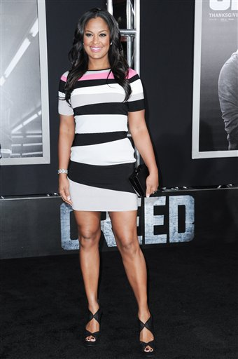 <div class='meta'><div class='origin-logo' data-origin='none'></div><span class='caption-text' data-credit='Richard Shotwell/Invision/AP'>Laila Ali attends the LA Premiere of &#34;Creed&#34; held at the Regency Village Theater on Thursday, Nov. 19, 2015, in Los Angeles. (Photo by Richard Shotwell/Invision/AP)</span></div>
