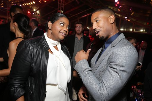 <div class='meta'><div class='origin-logo' data-origin='none'></div><span class='caption-text' data-credit='Eric Charbonneau/Invision/AP'>Exclusive - Octavia Spencer and Michael B. Jordan seen at Los Angeles World Premiere of New Line Cinema's and Metro-Goldwyn-Mayer Pictures' 'Creed'</span></div>