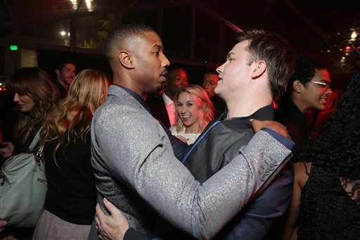 <div class='meta'><div class='origin-logo' data-origin='none'></div><span class='caption-text' data-credit='Eric Charbonneau/Invision/AP'>Exclusive - Michael B. Jordan and Scott Porter seen at Los Angeles World Premiere of New Line Cinema's and Metro-Goldwyn-Mayer Pictures' 'Creed'</span></div>