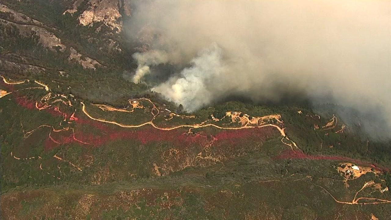 Loma Fire in Santa Cruz Mountains, Wednesday, September 29, 2016.