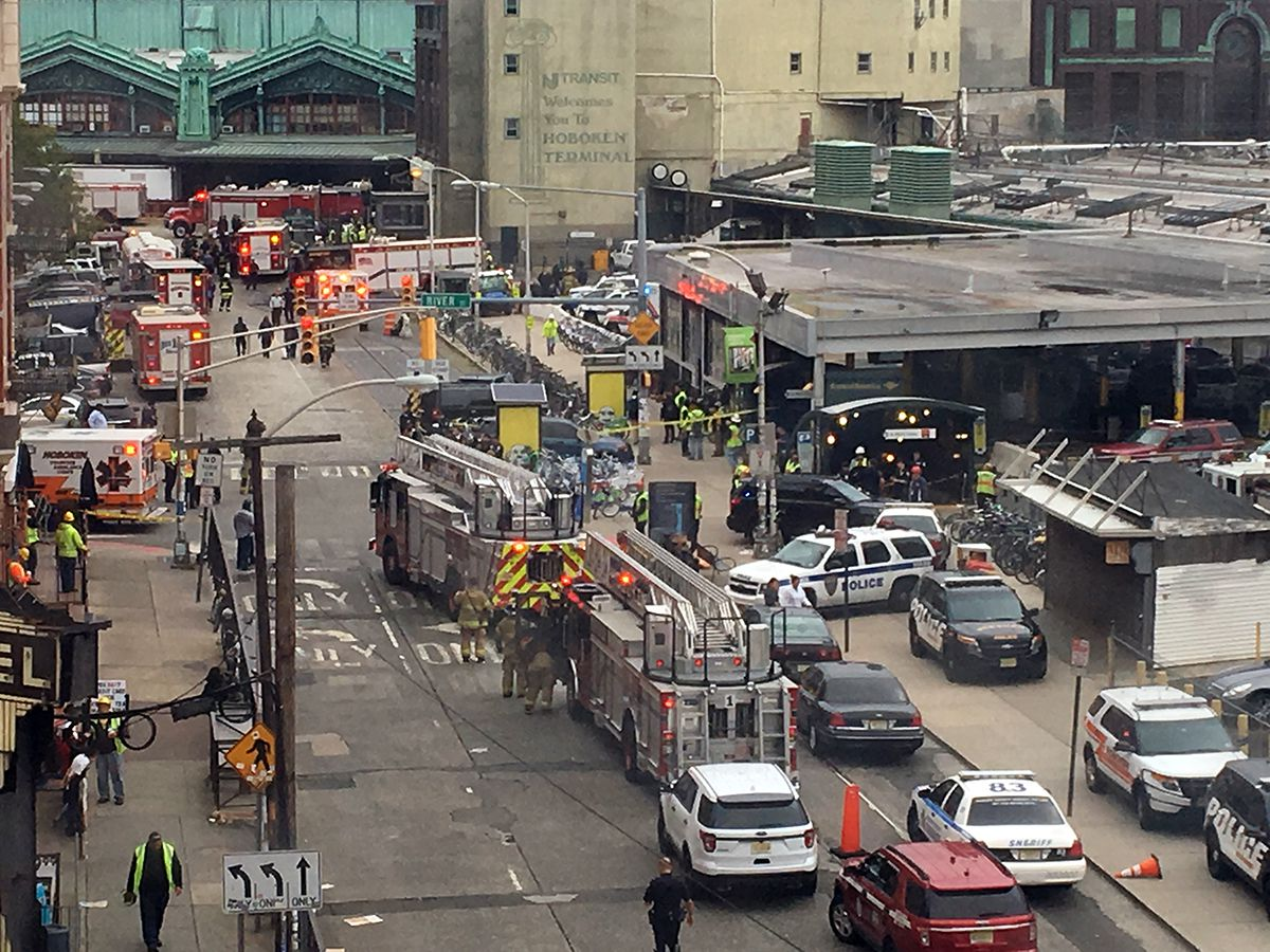 <div class='meta'><div class='origin-logo' data-origin='AP'></div><span class='caption-text' data-credit='AP Photo/Joe Epstein'>Emergency personnel arrive at the scene of a train crash in Hoboken, N.J. on Thursday, Sept. 29, 2016.</span></div>