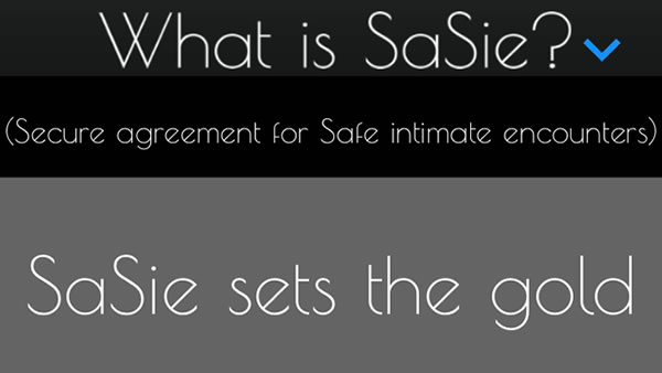 Sasie is a sexual consent app which requires potential partners to read a contract, take a photo and sign before engaging in any intimate activity.