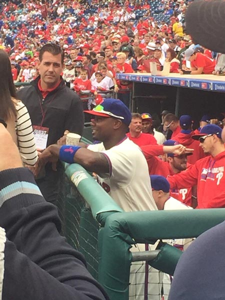 "<div class=""meta image-caption""><div class=""origin-logo origin-image none""><span>none</span></div><span class=""caption-text"">Philadelphia Phillies star Ryan Howard was honored Sunday at Citizens Bank Park prior to what is believed to be his final game for the team.</span></div>"