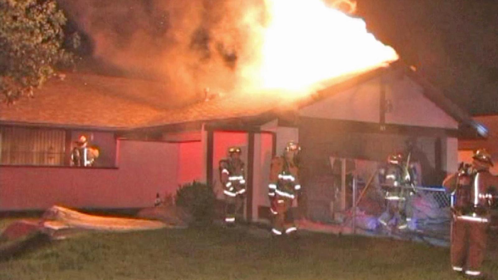 San Bernardino House Fire 400 500 Marijuana Plants Found