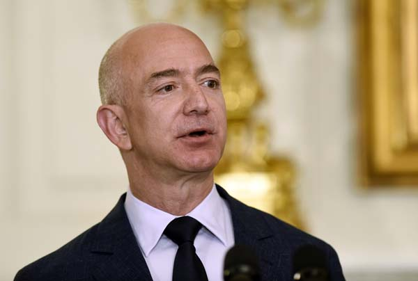 <div class='meta'><div class='origin-logo' data-origin='AP'></div><span class='caption-text' data-credit='AP Photo/Susan Walsh'>No. 2: Jeff Bezos, the founder and CEO of Amazon.com, is worth $67B.</span></div>