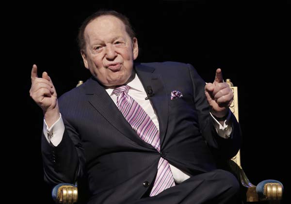 <div class='meta'><div class='origin-logo' data-origin='AP'></div><span class='caption-text' data-credit='AP Photo/Kin Cheung'>No. 14: Sheldon Adelson is worth $31.8B.</span></div>