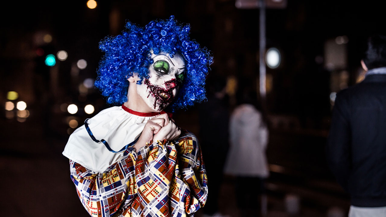 File image of a scary clown.