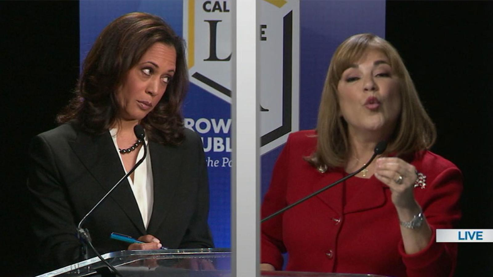 Senate Candidates Kamala Harris Loretta Sanchez Clash In Only Debate Abc7 Los Angeles