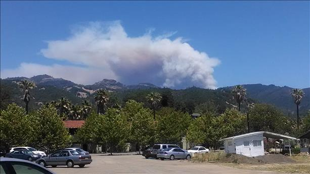 "<div class=""meta image-caption""><div class=""origin-logo origin-image ""><span></span></div><span class=""caption-text"">Pope Valley fire from Downtown Calistoga. (photo submitted by Doug O'neill via uReport)</span></div>"