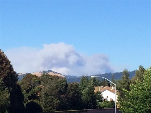 "<div class=""meta image-caption""><div class=""origin-logo origin-image ""><span></span></div><span class=""caption-text"">Napa fire seen from Santa Rosa office off of Highway 12. (photo submitted by Sandi via uReport)</span></div>"
