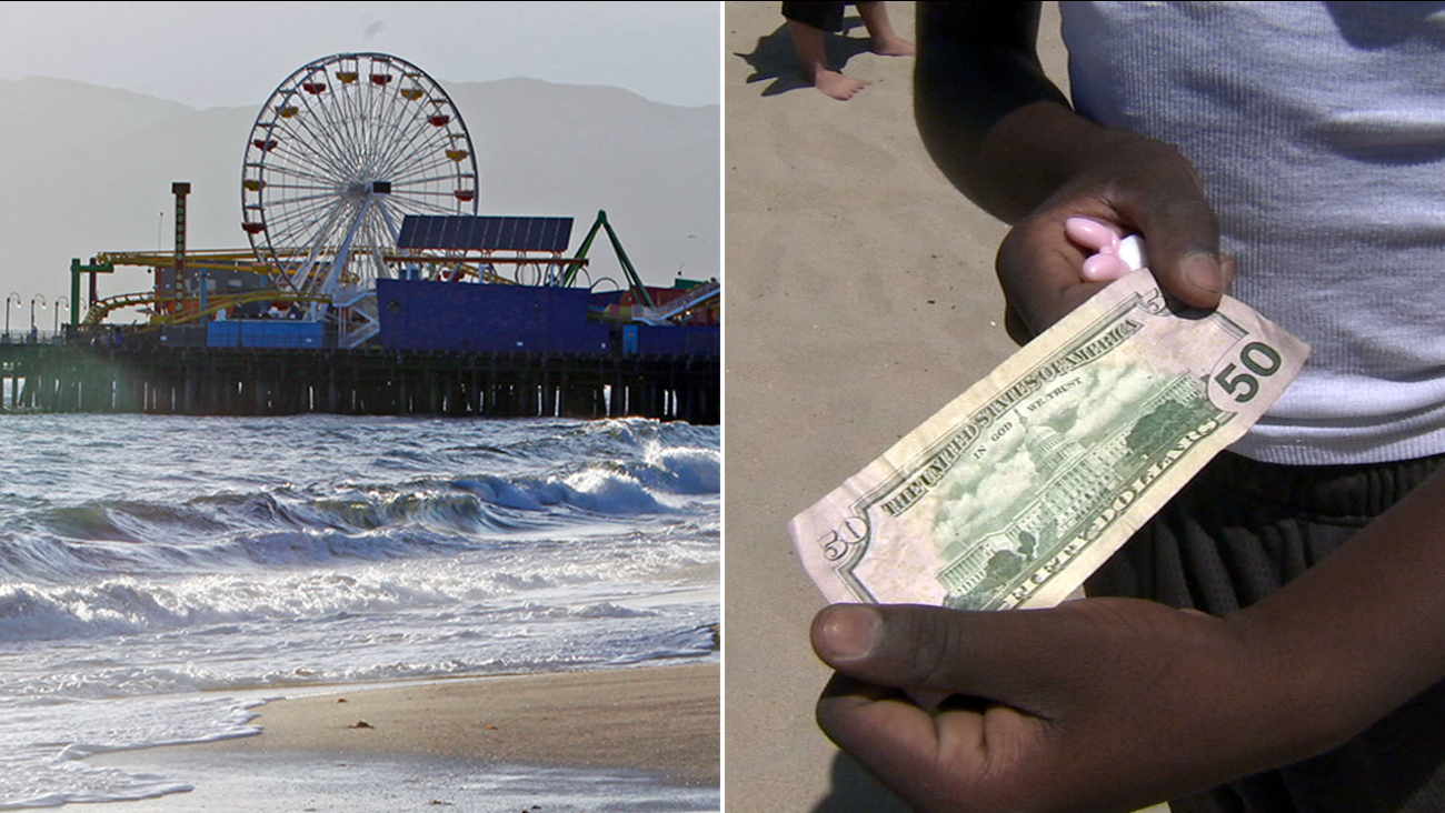 A 'Hidden Cash' scavenger hunt was set to take place in Santa Monica on Sunday, Oct. 9, 2016.