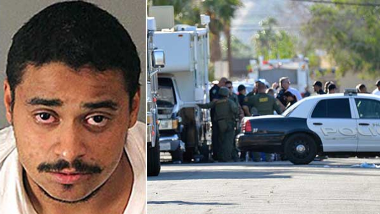 Authorities said John Felix was suspected of killing two Palm Springs police officers on Oct. 8, 2016.