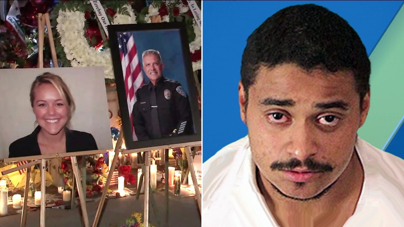 Authorities said John Felix (right) shot and killed Palm Springs officers Jose Vega and Lesley Zerebny on Saturday, Oct. 8, 2016.