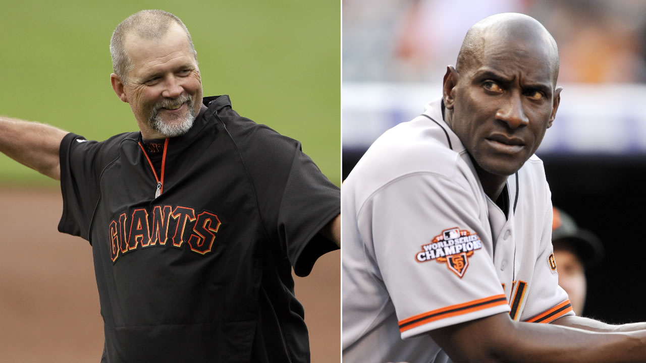 The San Francisco Giants announced that base coaches Bill Hayes, left, and Roberto Kelly, right, have been fired on Thursday, Oct. 13, 2016.