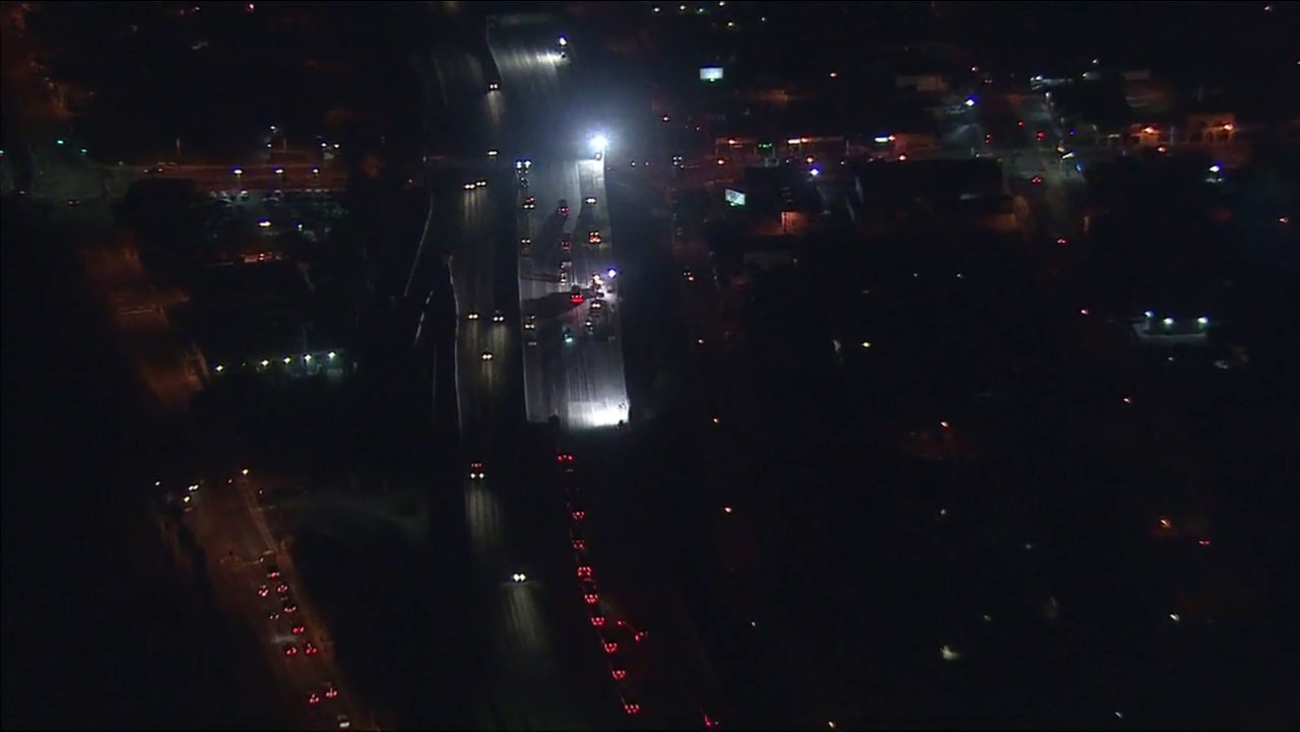 Construction crews have started work on the northbound 710 Freeway through East Los Angeles, which will be closed from Friday night until Monday at 4 a.m.