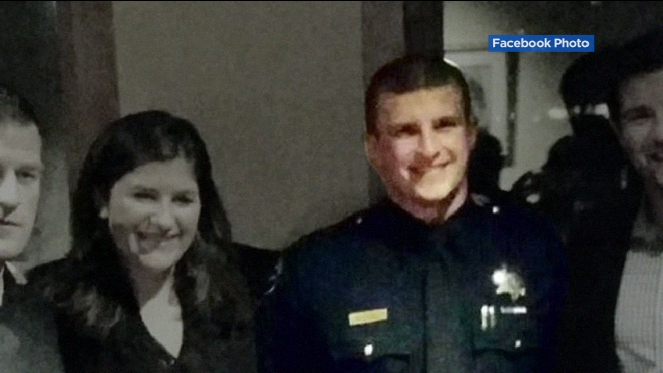 This image taken from Facebook shows San Francisco police Officer Kevin Downs who was injured in a shooting Friday, Oct. 15, 2016 in the Sunset District.